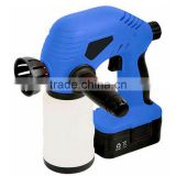 Wireless 18V Ni-Cd Battery Powered Chargeable Electric Handheld Small Portable Paint Spraying Sprayer Cordless Painting Gun