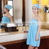 High Absorbent Microfiber Bamboo Fiber Anti-acarid Corla Fleece Plush Bath Skirt