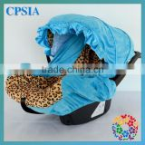 2015 Cute 3D Rosette Blue Flower &Leopard Print Infant Car Accessory Funny Baby Car Seat Covers Fabric Seat Protector