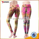 wholesale custom woman tights sublimation pants yoga leggings with custom logo