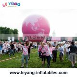 Inflatable colorful balloon , inflatable pink earth balloon, inflatable Pink Komen Globe