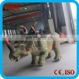 Amusement park most popular dinosaur ride or dinosaur cart