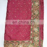 Ethnic Handmade Stone Work Self Design Jacquard Silk Saree Sari