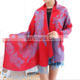 Fashion Blending Butterfly Peacock stole Shawl Scarf Wraps