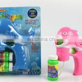 4 led dolphin Flashing Bubble Gun with music