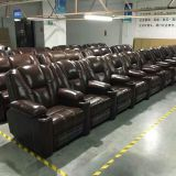 High quality cow leather power recliner home theater sofa