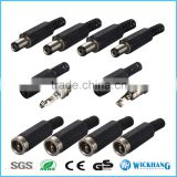 5.5mmx2.1mm Male Solder DC Power Barrel Tip Plug Jack Straight Connector