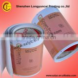 printing factory lower price cosmetic labels , printed label , private label with Eco-friendly PE material