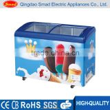 Supermarket galss door ice cream display deep chest freezer cabinet                                                                         Quality Choice