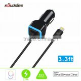 quick charging car charger MFi certified general universal multi-port dual usb Car Charger                                                                                                         Supplier's Choice