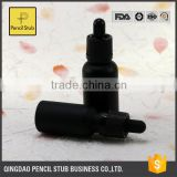 round matte black ejuice bottles 20ml 30ml empty glass bottles with childproof evident cap wholesale glass bottles