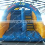 factory customize pvc inflatable water slide, water slides with slip cloth, small water slides with pool
