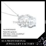 Factory shengleishi jewelry freshwater pearl necklace pendant for mother gifts silver infinity pendant Image