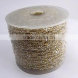 Amazing Best Design 3 MM Citrine Stone 925 Silver Beads Chain, Indian Handmade Silver Jewellery, Gemstone Silver Beads