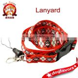 Black/Red skull print pattern lanyard plus cellphone&keychain holder