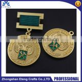 Best popular custom medal pin badge with ribbon,rewarded pin badge                                                                         Quality Choice