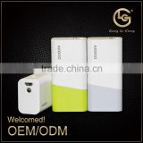 High capacity anti explsion universal cell phone portable 2600mah manual restaurant for 18650 power bank many colors