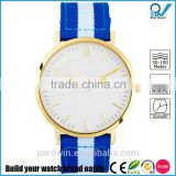 Blue and white nylon strap highly durable 20mm width 5ATM waterproof sapphire glass watch