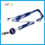 Custom Advertising Polyester Lanyard with Pull Badge reel