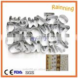Stainless steel letter shape alphabet cookie cutter sets