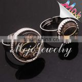 2014 fresh crystal collection evil eye glass bead ring for sale with eco zinc alloy ring body part