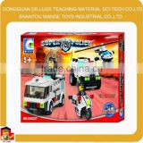 Factory price The police car intelligent plastic building blocks toys for kids