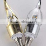 hotsale hight quality approved dimmable E14 base SMD2835 light bulb 3W/5W led candle light