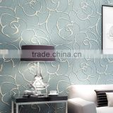 fashion European non woven home decor italian 3D wallpaper