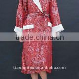 organic bamboo fiber bathrobe for lady