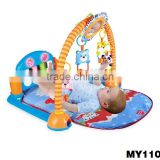 2015 Super Frozen baby gym play mat toy with piano fitness baby play gym with plastic rattles toys and piano baby gym carpet