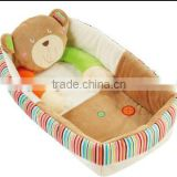 baby kids bear soft plush sleeping basket/basket for baby sleeping