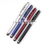 High quality led light tip ballpoint pen with laser pointer pen