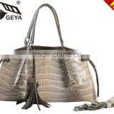 2015 professional lady handbag manufacturer crocodile ladies genuine leather handbag name brand