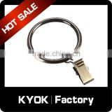 KYOK Quiet Plastic Inner Metal Top Quality Curtain Rings, 28mm Zinc Alloy Curtain Rods with Plastic/Wrought iron Curtain Rings