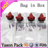 Yason pattern bib apron bag in box 5l wine 1-50 liter water bag in box & liquid bag & bib bag