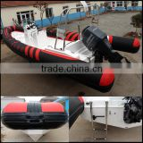 2016 Manufacturer direct china inflatable rib boat with pvc or hypalon material for sale