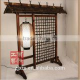 [Antique] Japanese signboard lamp / store decoration wooden floor lamp lighting Christmas LW-5