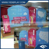 Portable aluminum pop up display for trade show booth