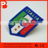 fashion cheap custom brand china embroidery name brand patches