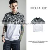 INF Men Casual Fashion Tshirt 2016 Latest Style Paisley Printing Man Tshirt With US West Coast Style