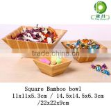 3 in 1 Bamboo square salad bowl dinnerware                                                                         Quality Choice