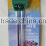 NO BATTERIES NEEDED 3 IN 1 SOIL MOISTURE LIGHT &PH METER