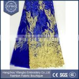 Top Quality Royal-blue Color Background Transparent Polyester Sports Mesh Fabric For Sports Dress