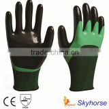 13G Polyester+Spandex Shell Nitrile Coated Safety Work Gloves neoprene coated gloves                                                                         Quality Choice