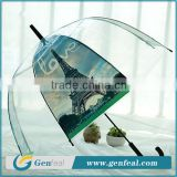 fashion promotional clear bubble plastic rain umbrellas souvenir for ladies                                                                         Quality Choice