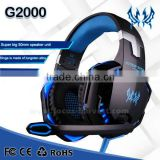 2015 New EACH G2000 Over-ear Game Gaming Headphone Headset Earphone Headband with Mic Stereo Bass LED Light for PC
