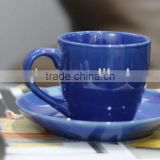 200cc blue mini cup and saucer for gift