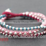 Red rope bracelet stainless steel metal women bracelets jewelry microfibre cleaning cloth