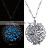 Chain Necklace 2016 Fashion Glow Round Locket Glowing Pendant Necklace Glow in the Dark Glow Jewellery