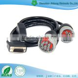Auto Testing Line DB 15P Male TO 2 in 1 Carter 6P and 9P Vehicle Diagnostic cable